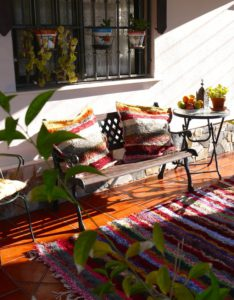 Handmade rugs and cushions