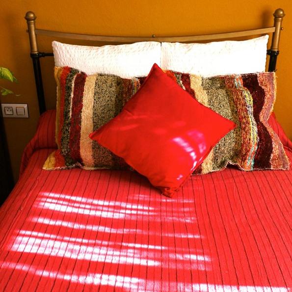 handmade throw and cushion 2 andalucian rugs